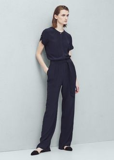 Belt long jumpsuit - Jumpsuits for Woman | MANGO Denmark