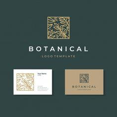 Botanical garden logo template Premium V. Brand Identity Design, Branding Design, Logo Branding, Logo Typo, Logo Garden, Plant Logos, Gift Logo, Logo Desing, Organic Logo