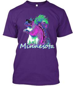 d376b457 Rad Squirrel Minnesota Purple T-Shirt Front Purple T Shirts, Squirrel,  Minnesota,