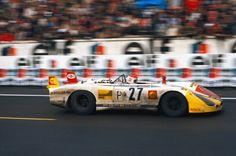 Dr. Helmut Marko & Rudi Lins (Porsche 908/2L.) 24 Heures du Mans 1970 - BROOOOM.com.