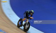 Alex Dowsett on his way to setting a new UCI Hour Record during the UCI Hour Record Attempt at the National Cycling Centre, on May 2, 2015 in Manchester, England.