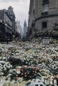 Eva Peron (Evita)'s funeral.