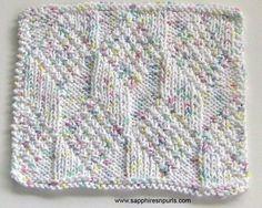 Diamond and Lozenge Dishcloth | Craftsy