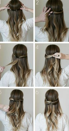 Running late for college? Try out these simple and easy hair styles for long hair.   #hairsryle #simplehairstyle #artbeautyonline