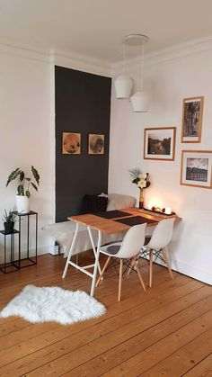 neue Wohnung - mein Wg Zimmer Dining table with Ikea trestles Shoe-Shopping Ikea Table, Room Inspiration, Home Furnishings, Home Furniture, Unique Furniture, Sweet Home, Room Decor, Interior Design, Living Room