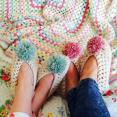 Don't think we will ever get bored of pictures of you in your gorgeous @threadthelove slippers from #issue71 - keep em coming!!! #Repost @ladybirddiaries Just lounging about in our matching slippers ... by insidecrochet
