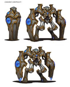 Draenei Construct by Ryan Metcalf Robot Concept Art, Creature Concept Art, Weapon Concept Art, Armor Concept, Creature Design, Fantasy Character Design, Character Design Inspiration, Character Art, Fantasy Monster