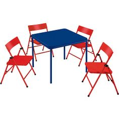 Safety 1st - Children's Folding Table and Chairs (Mix and Match): Kids' & Teen Rooms : Walmart.com
