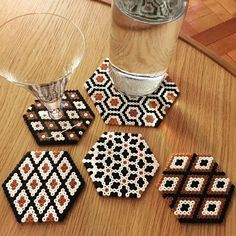 Coasters hama beads by madame_andine