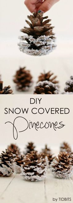 DIY Snow covered pinecones- an easy and beautiful way to add that flocked look to pinecones for wreaths and ornaments and for other Christmas and Winter decor like filling a bowl, and adding to a mantel or tablescape. So glad to be here again!  This is Cami from TIDBITS, here to share a seasonal decor project that could...Read More »