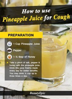 how to use pineapple juice for cough