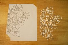 Print out a pattern you like, place a sheet of wax paper over it and trace the pattern with puffy paints.  When it dries peel it off the wax paper and apply it to its permanent surface.  (This gal has lots of great ideas!)