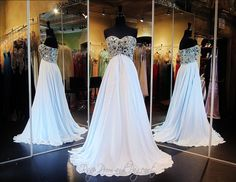 Light Blue Chiffon Prom or Pageant Dress-Strapless-Beaded Sweetheart Bodice-A Line Skirt-115JC0500200398