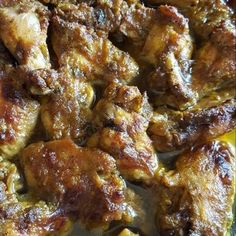 Great recipe for Baked Curry Chicken Wings. Tired of making curry chicken the classic way? Baking the chicken wings gave this recipe a great twist! Curry Chicken Wings Recipe, Baked Curry Chicken, Jamaican Curry Chicken, Canned Chicken, Chicken Wing Recipes, Teriyaki Chicken, Haitian Food Recipes, Jamaican Recipes, Chicken Stuffed Peppers