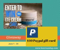 cool Rodan+Fields Redefine Eye Cream $60 value Giveaway + $40 Paypal Gift Card!