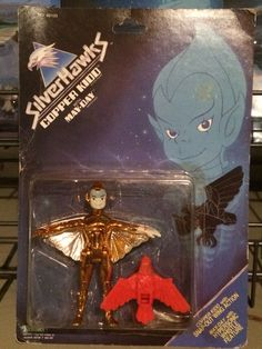 Copper Kidd with May-Day from the SilverHawks line of action figures from Kenner. These are part of my personal collection of toys.