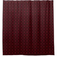 Lucky Clover Abstract Motif Red On Black Shower Curtain Zazzle
