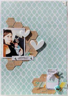 Bg paper, hearts & hexagons!