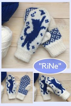 Double Knitting Patterns, Knitting Charts, Knitting Socks, Baby Knitting, Crochet Mittens, Mittens Pattern, Knitted Gloves, Norwegian Knitting, Knit Dog Sweater
