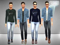 Charisms Young Male Set  Found in TSR Category 'Sims 4 Male Clothing sets'