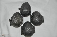 4 Antique Randle & Smith Chocolate Mold 11/37 Egg Nut
