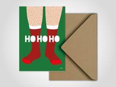 SOCKS — moderne Grußkarte, Weihnachten, Nikolaus, Christmas, Noel, Santa…