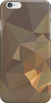 Dark Tan Brown Abstract Low Polygon Background by retrovectors