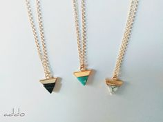 Turquoise Howlite Necklace-Small Triangle Necklace-Geometric Necklace-14k Gold Filled Necklace-Minimalist Jewelry-Bestfriends Necklace Gift #turqoise #triangle #howlite #geometric #minimal #necklace #party #gift #statement #friends #fashion2019 #summer2019 #bling #style Triangle Necklace, Geometric Necklace, Arrow Necklace, Dainty Necklace, Gold Filled Chain, Bestfriends, Minimalist Jewelry, Modern Jewelry, Turquoise Stone