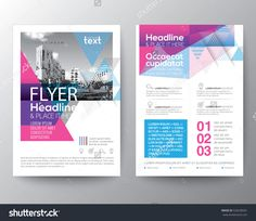 template design layout brochure design templates geometric abstract