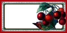 Today's free printable jam labels were made with some of my favorite fruit images from The Graphics Fairy! These labels are just in time for summer Jam Jar Labels, Jam Label, Canning Labels, Canning Recipes, Decoupage Printables, Free Printables, Cherries In The Snow, Cherry Delight, Cherry Baby