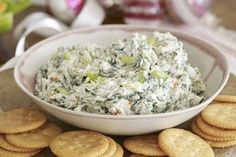 Our Classic Spinach Dip is everyone& favourite appetizer. Served with bread, crackers or fresh veggies, this spinach dip is always the first appetizer to disappear. Kraft Foods, Kraft Recipes, Dip Recipes, Cooking Recipes, What's Cooking, Delicious Recipes, Appetizer Dips, Appetizer Recipes, Savoury Recipes