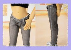 Black denim five pocket jeans for MSD Kaye von Bellesdollfashions, $10.00