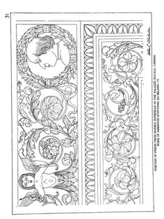 Gallery.ru / Фото #20 - Ornamental Details of the Italian Renaissance - shtushakutusha Stencil Patterns, Textile Patterns, Pattern Art, Textiles, Stone Carving, Wood Carving, Texture Sketch, Black And White Lines, Carving Designs