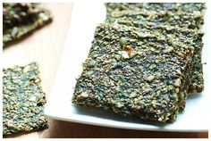 Raw Pumpkin Seed Crackers With Spinach [Vegan, Raw, Gluten-Free] | One Green Planet