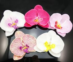 U Pick Fabric Orchid Flower Hair Clip Bridal Wedding Hawaii Party Prom    Bet we could make these easily! For the ladies- Put throughout a long braid.
