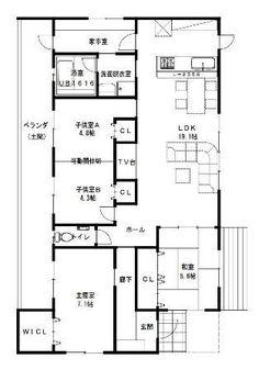 建築設計施工 ライフ・ストレージ・マネジメント株式会社:平屋30坪4LDK間取り