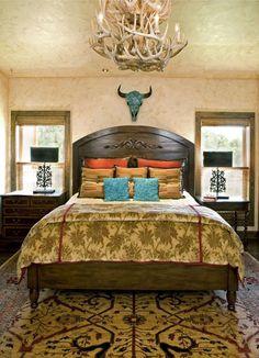 Guest bedroom at Texas Ranch   thiss is kinda fun
