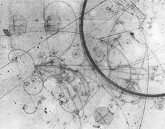 Candidate for dilepton (µ± e) event found in early pictures taken for E-172 shortly after 500 BeV beam was sent to the 15 ft. bubble chamber. The rare, exciting events may be evidence for a new quantum number or a new particle