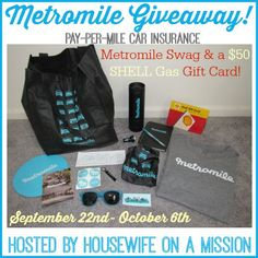 Nanny to Mommy: Enter to WIN a Metromile Swag Bag with $50 SHELL Gas Gift Card! Ends 10/6