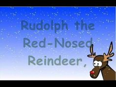 Children's Christmas Song Rudolph the Red Nosed Reindeer with Lyrics - created for the classroom Classic Christmas Carols, Christmas Carols Songs, Popular Christmas Songs, Christmas Music, Christmas Videos, Reindeer Christmas, Xmas, Christmas Songs For Toddlers, Childrens Christmas Songs
