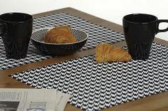 Platzset #261 modernes Design Hahnentritt abwaschbar Tischset 2er Set ca. 30x45