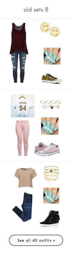 """old sets 8"" by italian-girl87 ❤ liked on Polyvore featuring J Brand, Kristina Ti, Converse, Sydney Evan, Maison Scotch, Forever 21, Mavi, rag & bone, River Island and Accessorize"