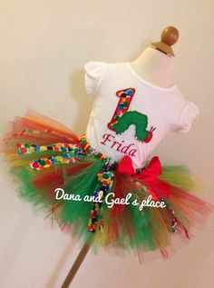 Somehow, someway, I need to get one of these for Kamryn's 1st birthday!  Birthday very hungry caterpillar tutu and by DanaandGaelsplace, $48.50..............