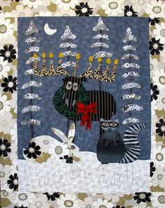 Holiday Cheer quilt pattern by Kim Rado at Starry Night Hollow