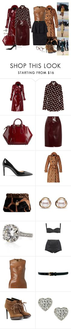 """""""Front Row @ Burberry Prorsum Spring 2014 Show."""" by foreverforbiddenromancefashion ❤ liked on Polyvore featuring Burberry, Prada, Trilogy, Dolce&Gabbana, Warehouse and Accessorize"""