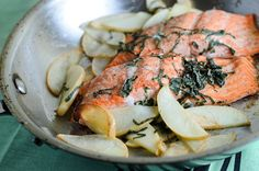 This trout recipe with apples and basil is easy enough for a weeknight but fancy enough for company. Seafood Dishes, Fish And Seafood, Trout Recipes, Game Recipes, Tasty Fish Recipe, Apple Recipes, Healthy Recipes, Cooking Trout, Good Food