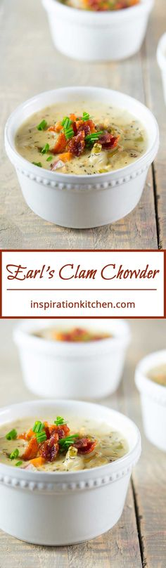 Earls Clam Chowder Collage | Inspiration Kitchen