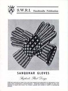 Sanquhar Gloves, Shepherd's Plaid design knitting pattern