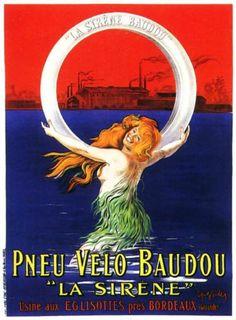 Pneu Velo Baudou La Sirene -- Leonetto Cappiello