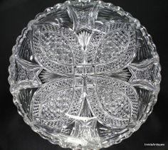 Antique ABP American Brilliant Cut Glass Bowl STUNNING, BEAUTIFUL CUTS